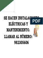 Se Hacen Instalaciones Eléctricas y Mantenimiento