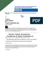 Metode, Teknik, Strategi dan Pendekatan di dalam Pembelajaran.doc