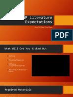 etaap literature expectations