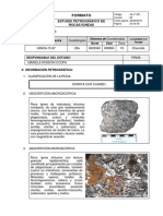 Estudio Petrográfico de Rocas Ígneas -Centro Poblado Chacralla