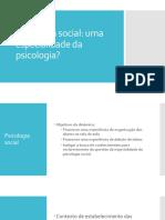 1 Psicologia Social Especialidade