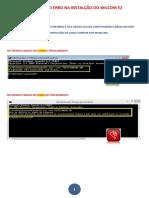 Manual Erros Na Instalação Wilcom e2