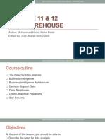 Chapter 9 & 10 - Data Warehouse.pptx