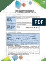 Guía de Actividades y Rúbrica de Evaluación - Etapa 3 - Ejecucion y Seguimiento