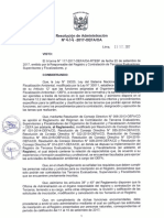 Resolucion de Administracion NC2B0 414 2017 OEFA OA LRF
