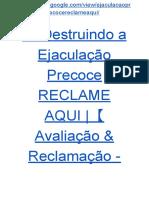 → Guia Destruindo a Ejaculação Precoce RECLAME AQUI |【Avaliação & Reclamação - Guia PDF ☛ GRÁTIS】
