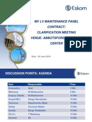 Presentation Clarification Meeting - MV LV 2018 | Business
