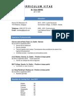 Oisin Berg - French CV