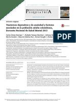 Prevalencia Ansiedad y Depresion Colombia 2015
