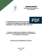 Comprensión lectora en estudiantes de 4° grado de primaria de asentamientos humanos y zona urbana Red N° 9 Callao.pdf