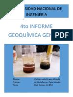 4to Informe.Geoquímica