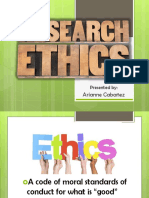 Arianne Research Ethics