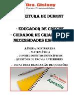Apostila Educador de Creche e Cuidador Criança Necessidades Especiais