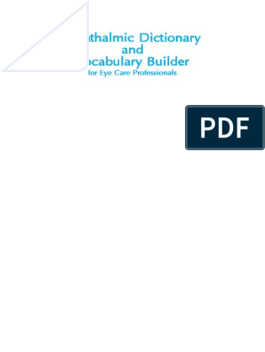 Ophthalmic Dictionary and Vocabulary Builder for Eye Care
