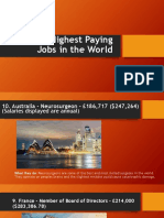 Top 10 Highest Paying Jobs in the World