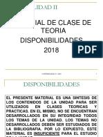 Clases Teorica de Disponibilidades Version 12-03-2018
