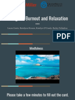 caregiver burnout and relaxation