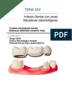Prótesis y Ramas de la Odontología