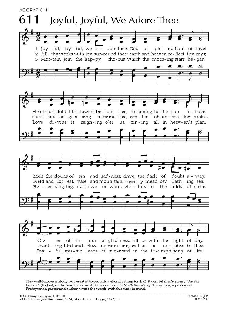 611-Joyful Joyful We Adore Thee