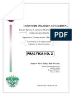 Practica No. 2 - Microprocesadores IPN ESIME ZACATENCO