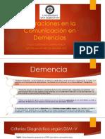 Clase 22. Alteraciones en La Comunicación en Demencias
