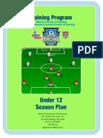 U12 Season Plan