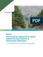 Manual Fontagro Preparacion Pefiles de Proyectos