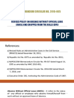 AWOL and DFR Guidelines NMC-2016-065