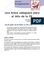 Catequesis Ao de La Fe