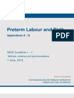 Preterm Labour and Birth Appendices a g2