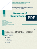 8 Central Tendency