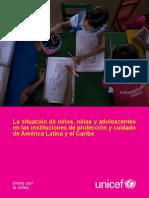 La Situación de Los Niños Niñas y Adolescentes en Las Instituciones de Protección UNICEF