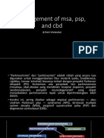 Management of Msa, Psp, And Cbd