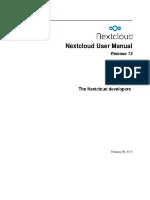 Nextcloud Manual pdf | Computer File | Icon (Computing)