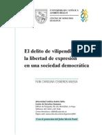 El Delito de Vilipendio y La Libertad de Expresión en Una Sociedad Democrática