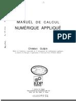 Calcul Numérique Appliqué - Maths - Algorithme