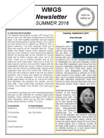 WMGS Newsletter - Summer 2018