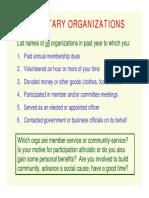 Voluntary Organizations