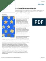 ¿El final del multiculturalismo?