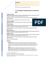 Does Speed Matter the Impact of Operative Time on Outcome In