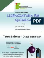 3° aula Termodinâmica