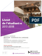 Phillia Livret 17-18 Licence Sdl