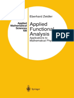 Applied Functional Analysis Applications to Mathematical Physics