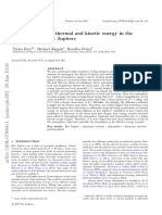 Turbulence-driven thermal and kinetic energy in the atmospheres of hot Jupiters