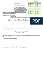Unit Conversion Worksheet Practice