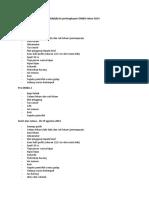 List Perlengkapan OMBA Tahun 2014