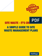 Site Waste Management Plan
