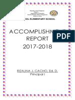 Accomplishment Report Folder