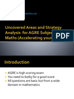 Uncovered Are as for a GRE Subject Maths