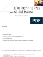The Revolt of 1857 1.10- Pyqs (Upse Cse Mains)